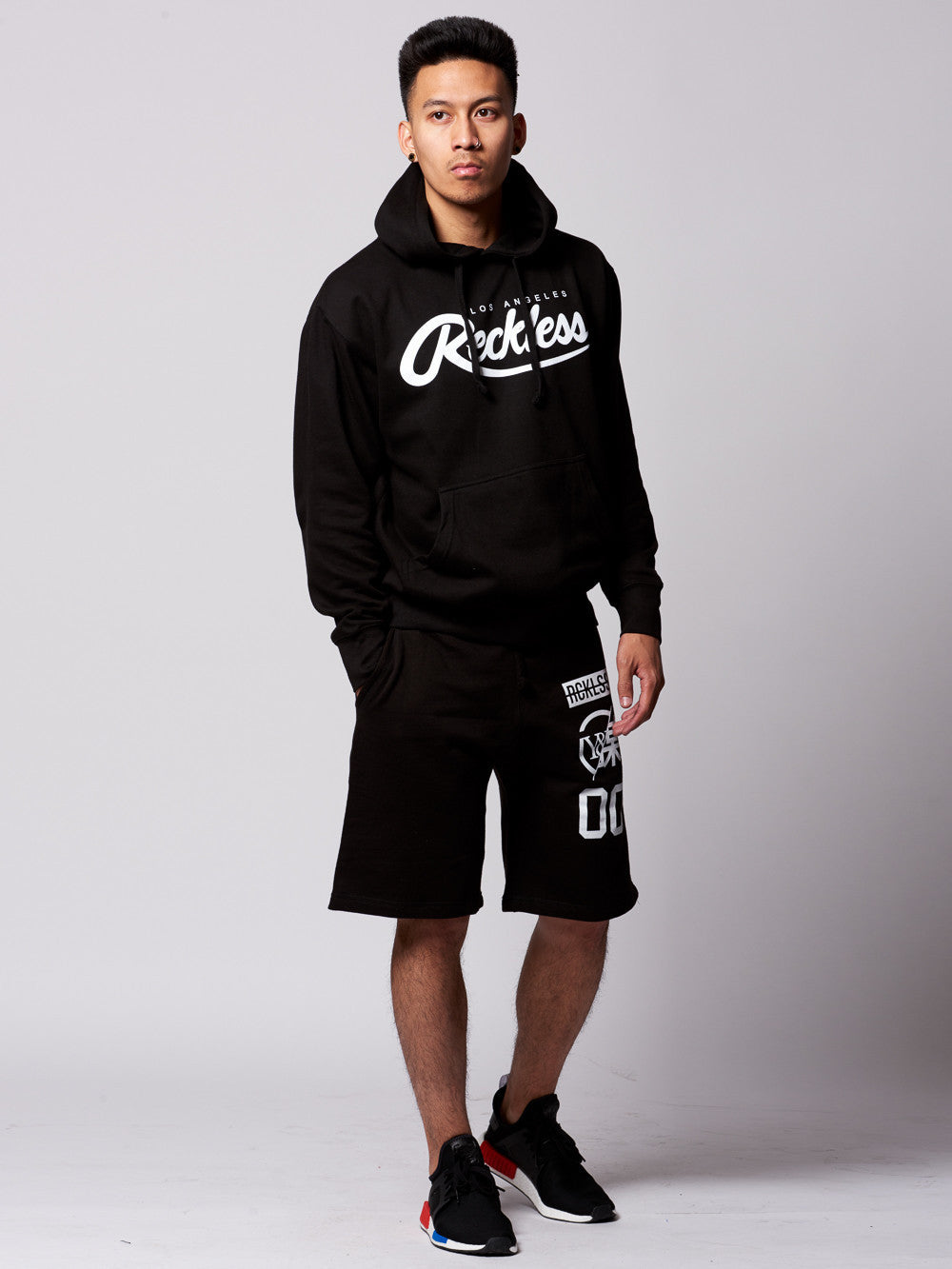 Young and Reckless Mens - Bottoms - Shorts Osaka Sweatshorts- Black