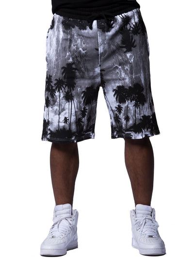 Young and Reckless Mens - Bottoms - Shorts Palm Peace Shorts - Grey/Black