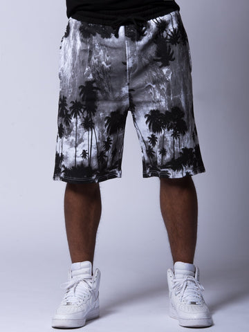 Palm Peace Shorts - Grey/Black