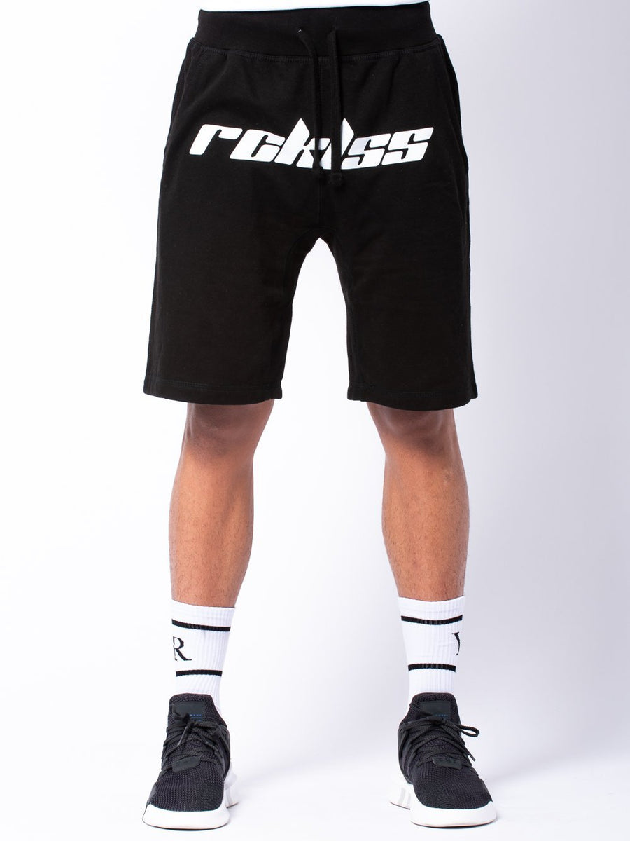 Racer Sweatshorts - Black/White