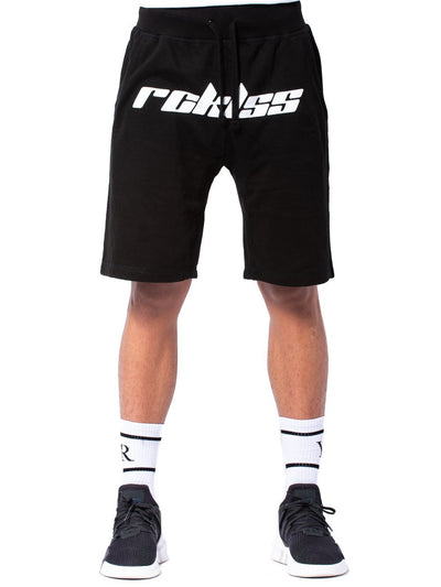 Young and Reckless Mens - Bottoms - Shorts Racer Sweatshorts - Black/White