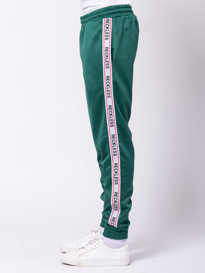 Young and Reckless Mens - Bottoms - Sweatpants Crusader Track Pants - Green