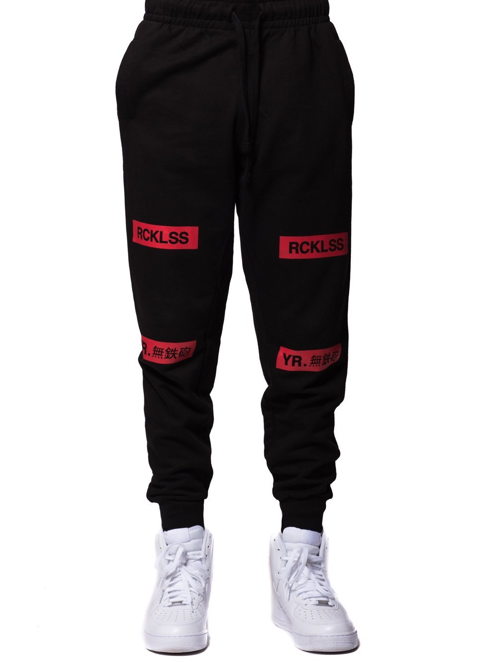 Young and Reckless Mens - Bottoms - Sweatpants Dual Threat Sweatpants - Black/Red