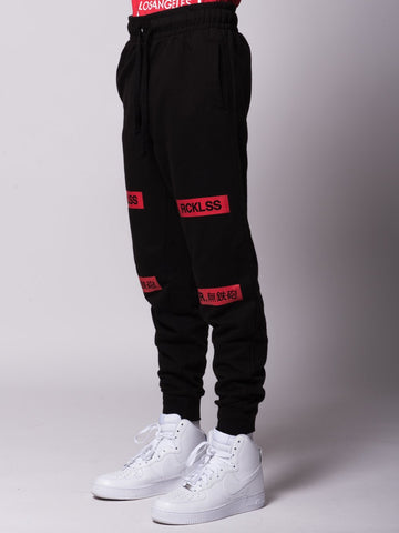 Dual Threat Sweatpants - Black/Red