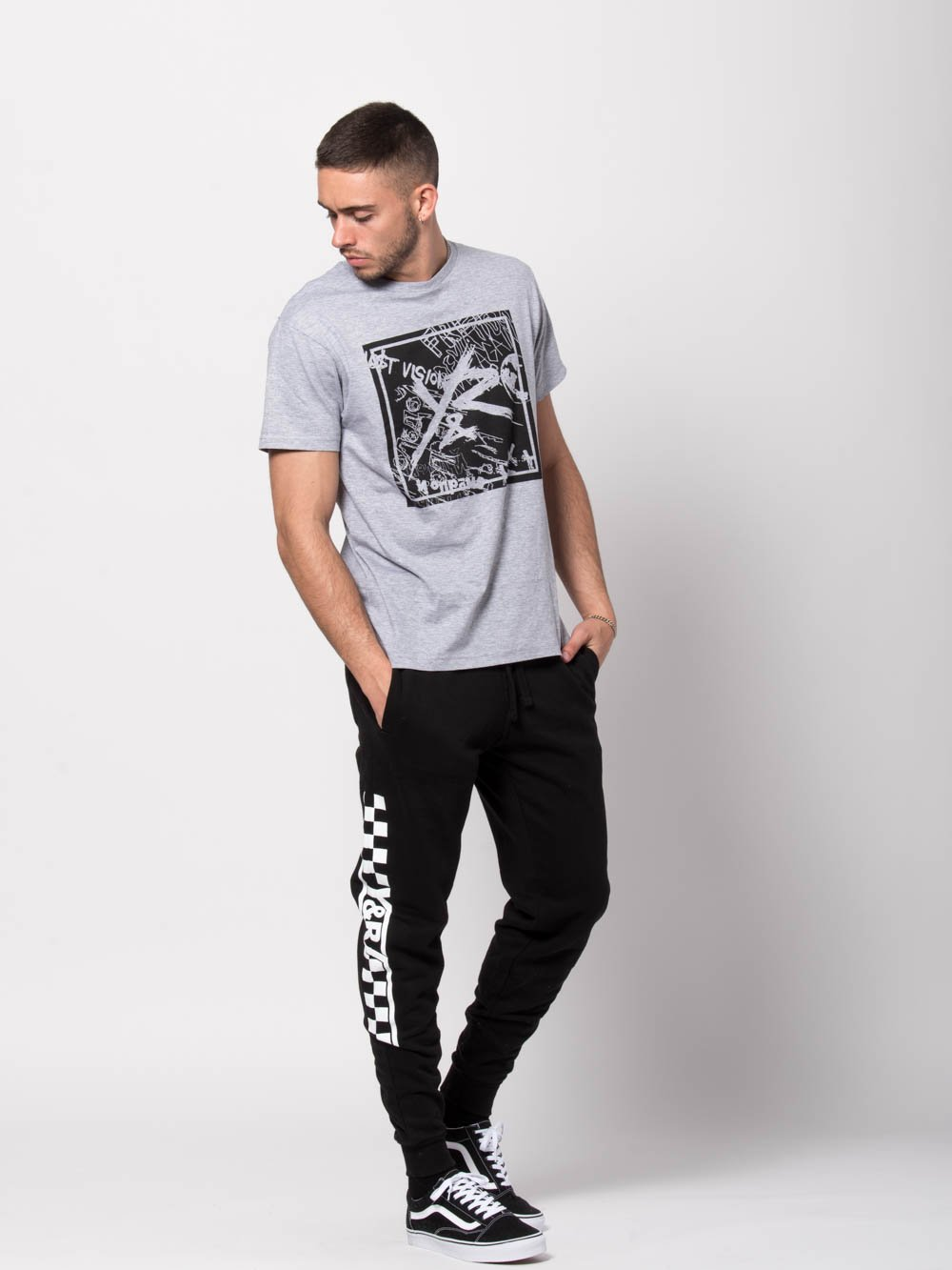 Young and Reckless Mens - Bottoms - Sweatpants Excursion Sweatpants - Black/White