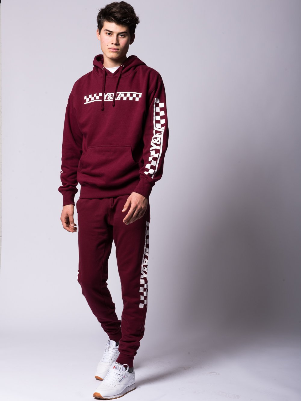 Young and Reckless Mens - Bottoms - Sweatpants Excursion Sweatpants - Burgundy