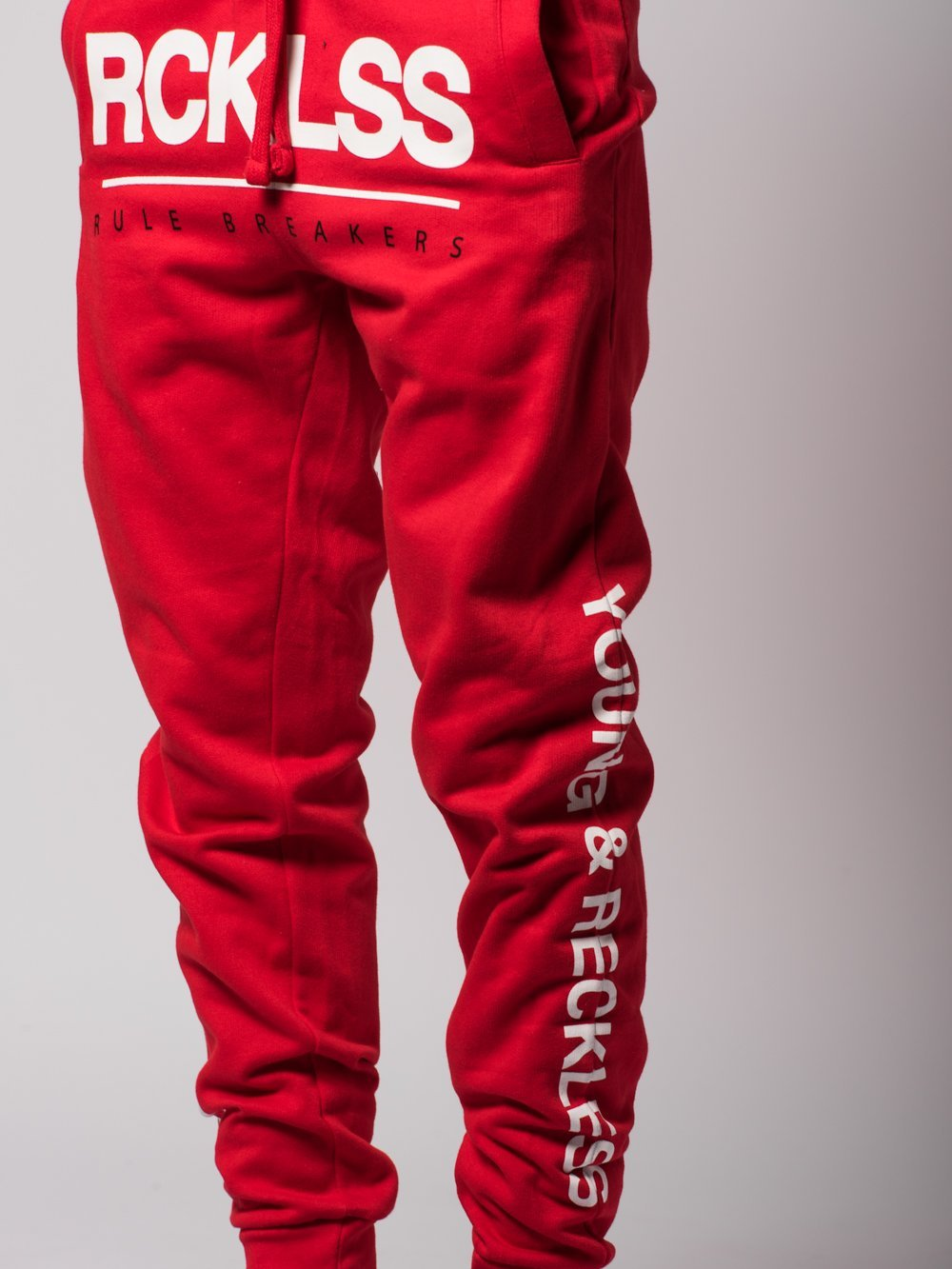 Young and Reckless Mens - Bottoms - Sweatpants Fast Track Sweatpants- Red