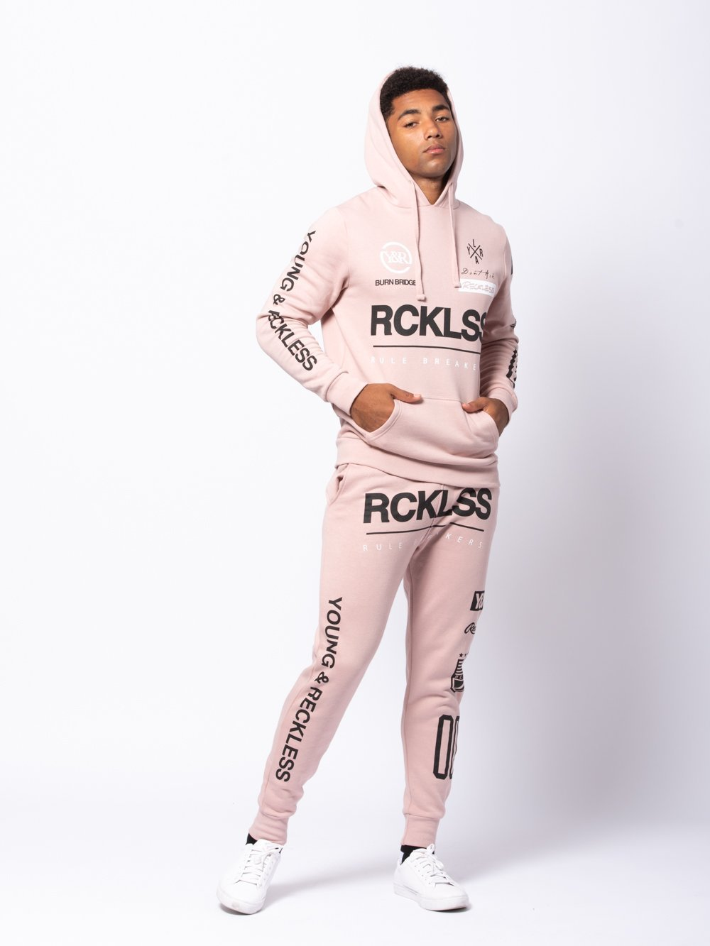 Young and Reckless Mens - Bottoms - Sweatpants Fast Track Sweatpants - Rose