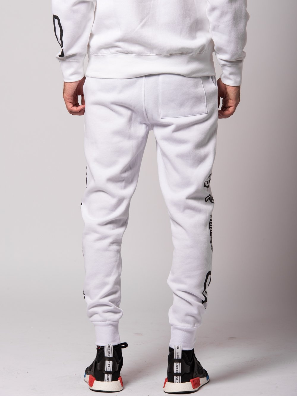Young and Reckless Mens - Bottoms - Sweatpants Fast Track Sweatpants- White