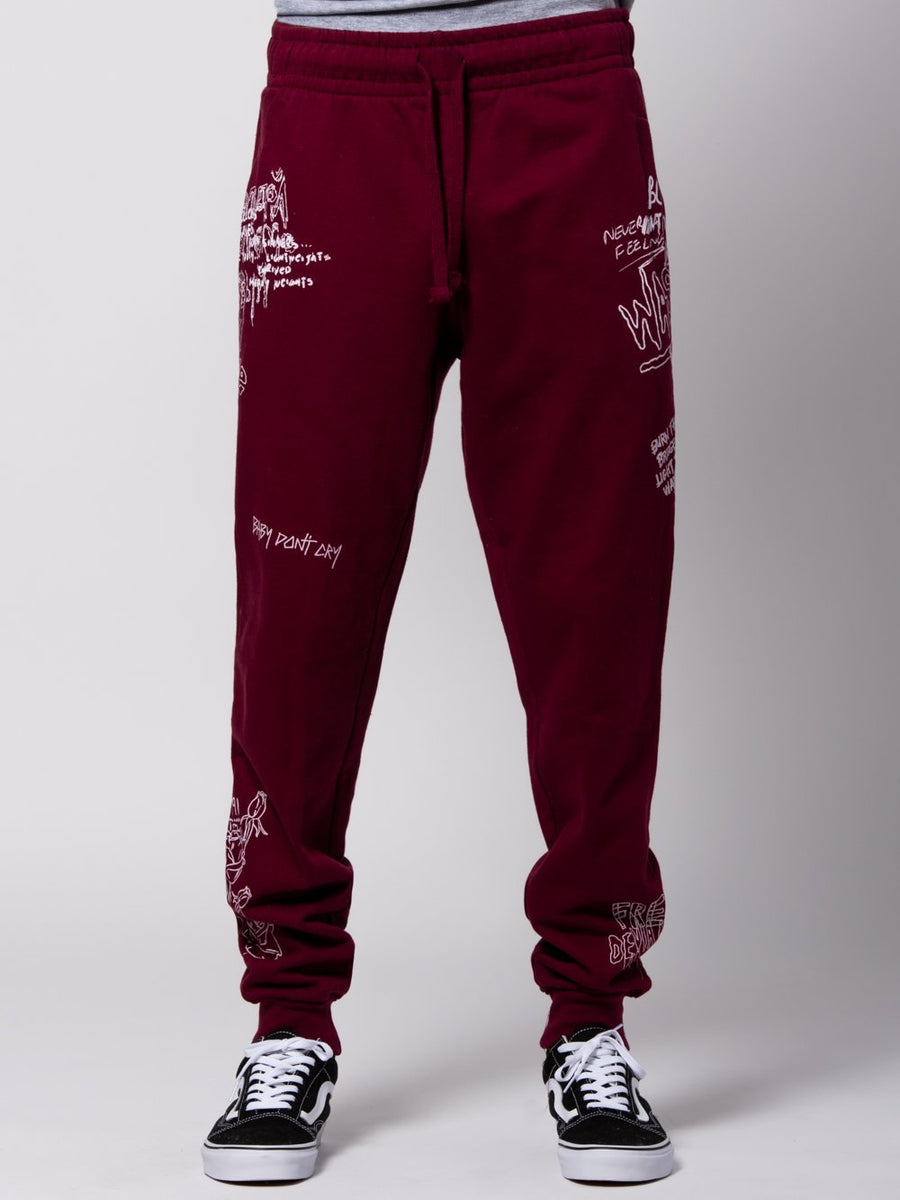 Griffon Sweatpants - Burgundy
