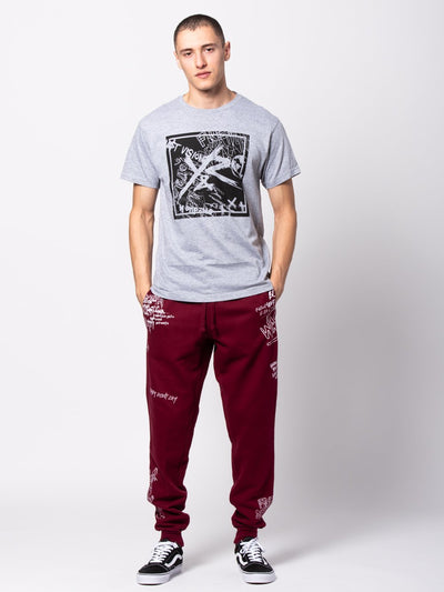 Young and Reckless Mens - Bottoms - Sweatpants Griffon Sweatpants - Burgundy