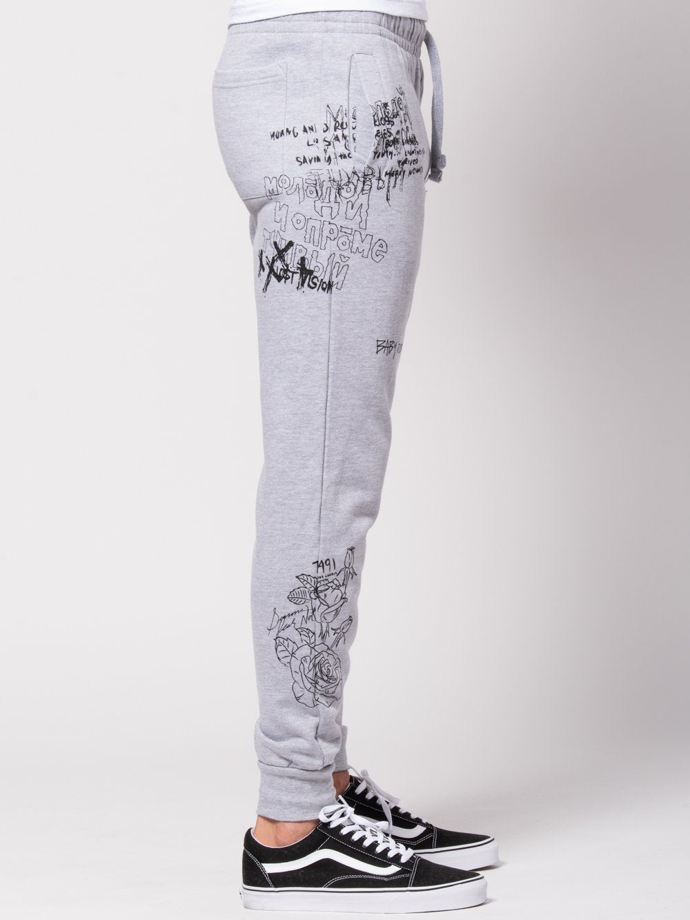 Young and Reckless Mens - Bottoms - Sweatpants Griffon Sweatpants - Heather Grey