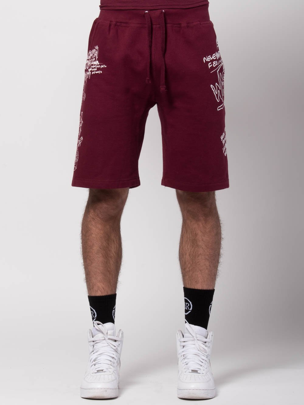 4c4991c7 Young and Reckless Mens - Bottoms - Sweatpants Griffon Sweatshorts -  Burgundy