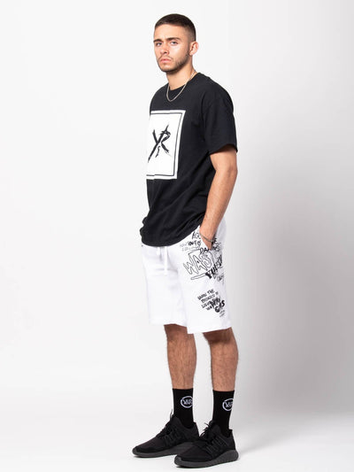 Young and Reckless Mens - Bottoms - Sweatpants Griffon Sweatshorts - White