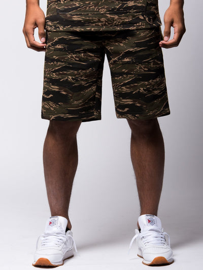 Young and Reckless Mens - Bottoms - Sweatpants Invincible Sweatshorts - Tiger Camo
