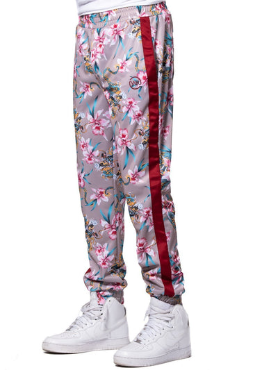 Young and Reckless Mens - Bottoms - Sweatpants Monstruo Track Pants - Red/Pink