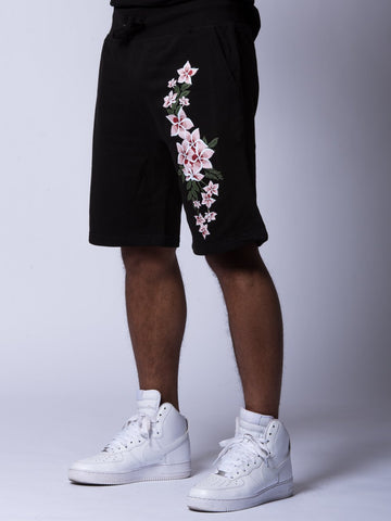 Young and Reckless Mens - Bottoms - Sweatpants Orchid Sweatshorts - Black