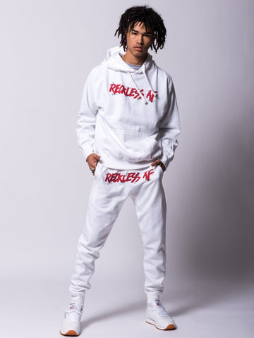 Pinned AF Sweatpants - White