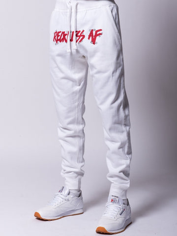 Young and Reckless Mens - Bottoms - Sweatpants Pinned AF Sweatpants - White