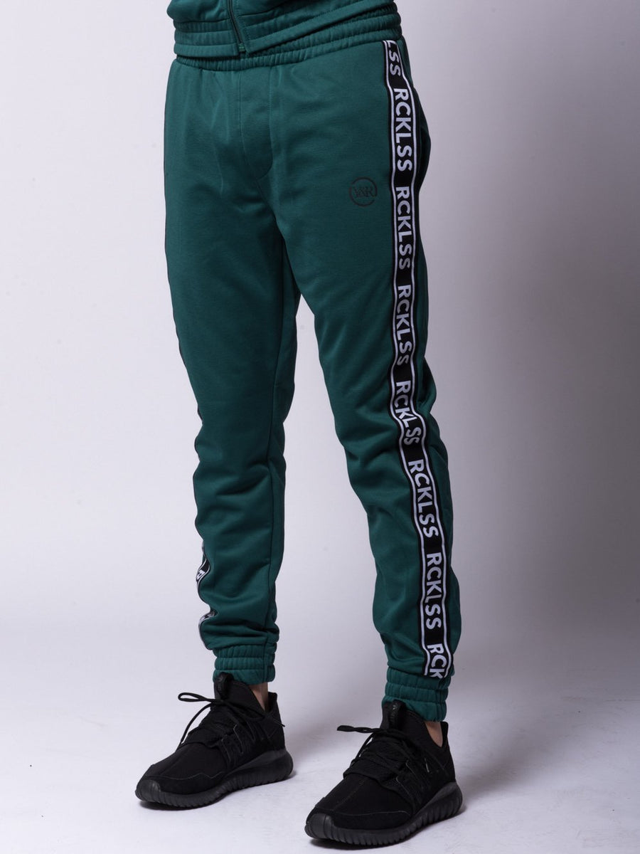 Young and Reckless Mens - Bottoms - Sweatpants Pursuit Track Pants - Green