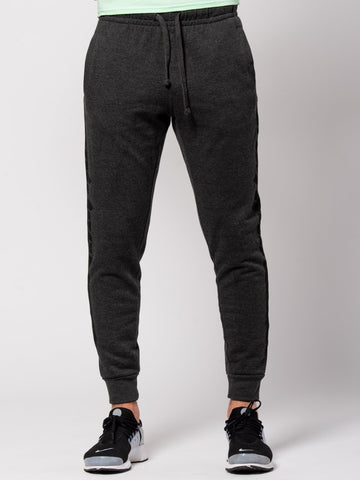 Young and Reckless Mens - Bottoms - Sweatpants Racer Sweatpants - Charcoal Grey