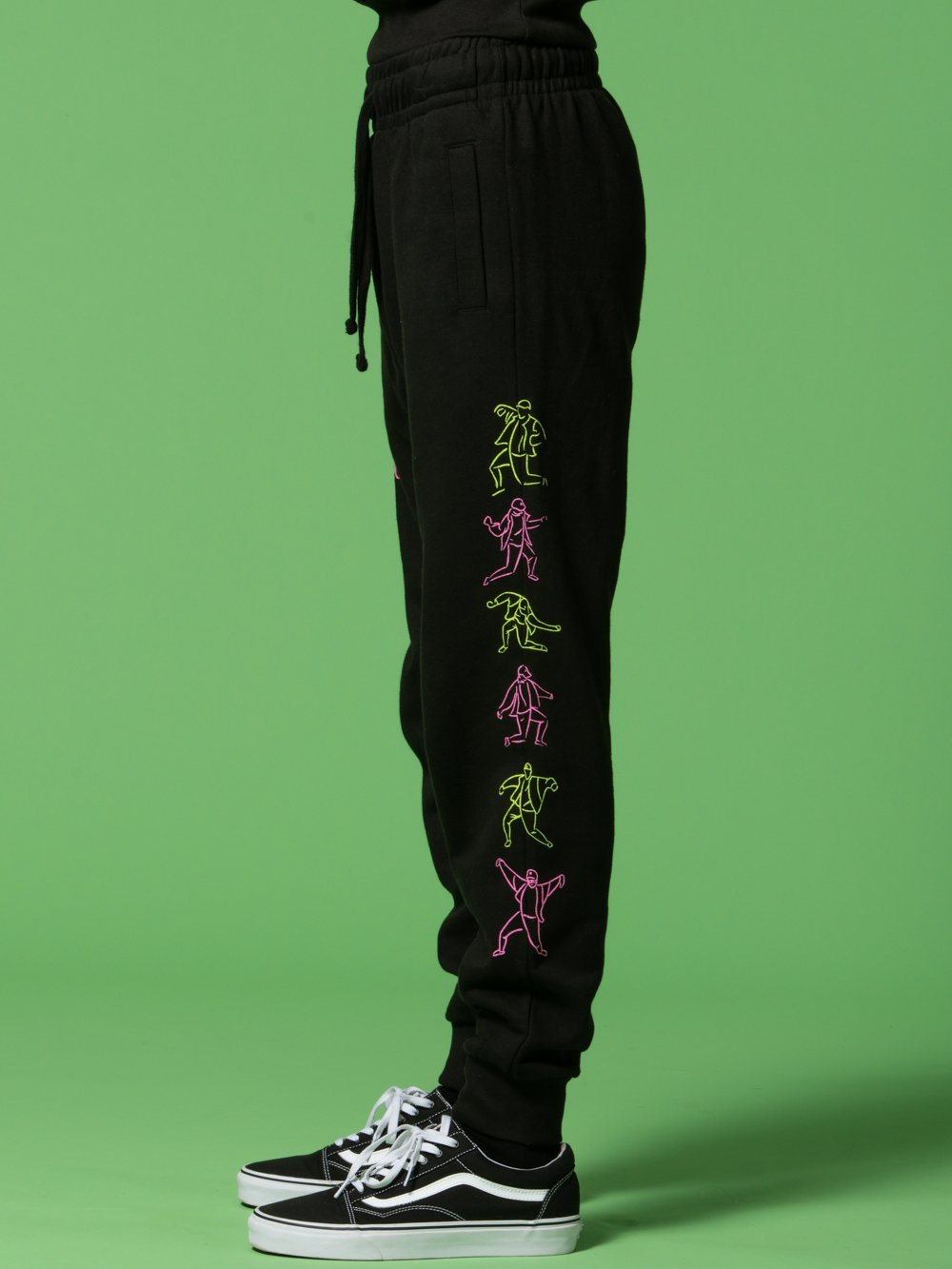 Young and Reckless Mens - Bottoms - Sweatpants RCKLSS X PRDY GNG Cowabunga Sweatpants - Black