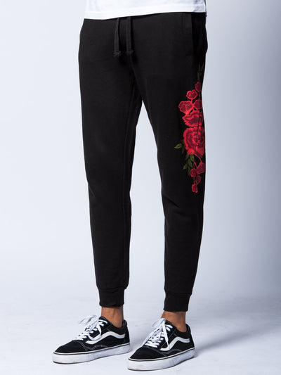 Young and Reckless Mens - Bottoms - Sweatpants Rosebud Sweatpants- Black