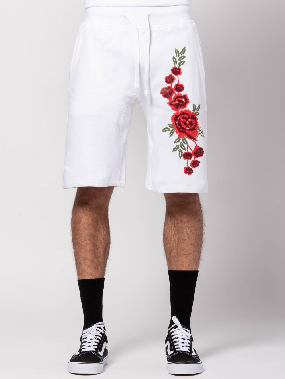 Young and Reckless Mens - Bottoms - Sweatpants Rosebud Sweatshorts - White