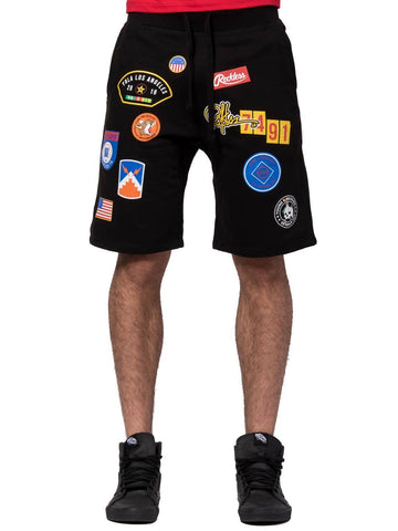 Young and Reckless Mens - Bottoms - Sweatpants Shellback Sweatshorts - Black