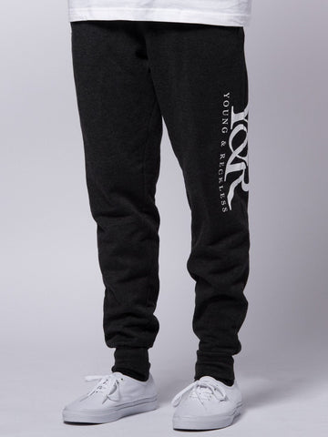 Young and Reckless Mens - Bottoms - Sweatpants Straight Up Sweatpants- Charcoal