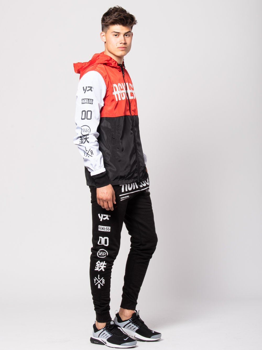 Young and Reckless Mens - Bottoms - Sweatpants Strike Thru Sweatpants - Black/White