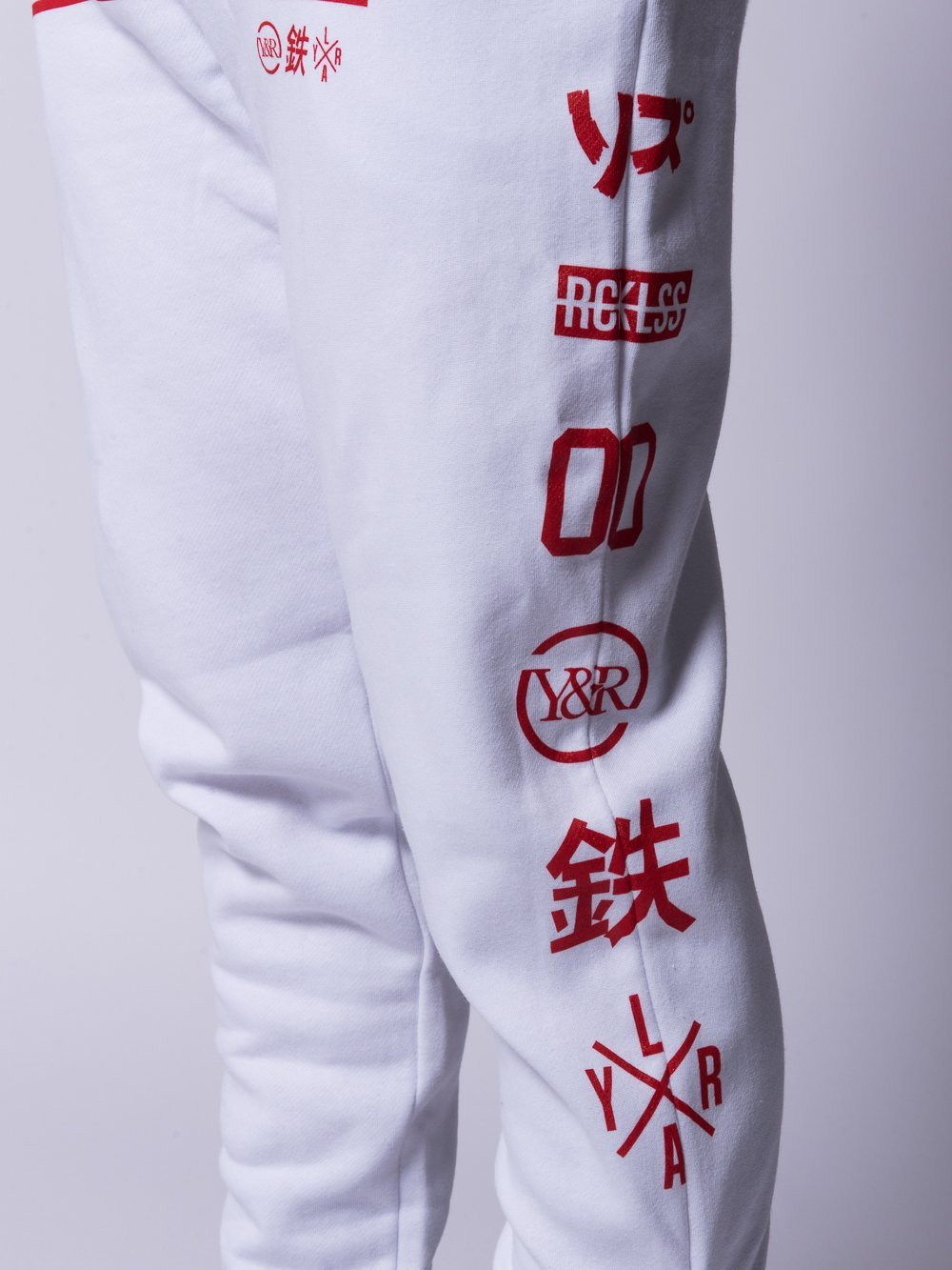 Young and Reckless Mens - Bottoms - Sweatpants Strike Thru Sweatpants- White