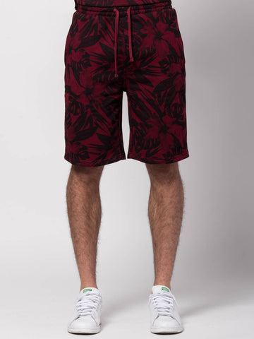 Young and Reckless Mens - Bottoms - Sweatpants Topiary Sweatshorts - Burgundy