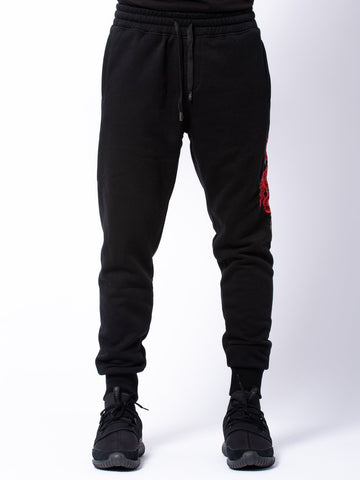Young and Reckless Mens - Bottoms - Sweatpants Vista Sweatpants - Black/Red