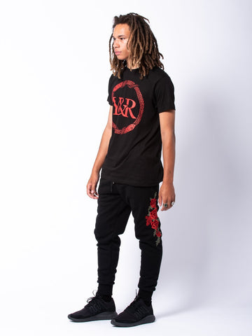 Vista Sweatpants - Black/Red