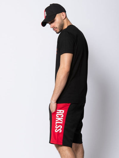 Young and Reckless mens - bottoms - sweatshorts Denali Sweatshorts - Black/Red