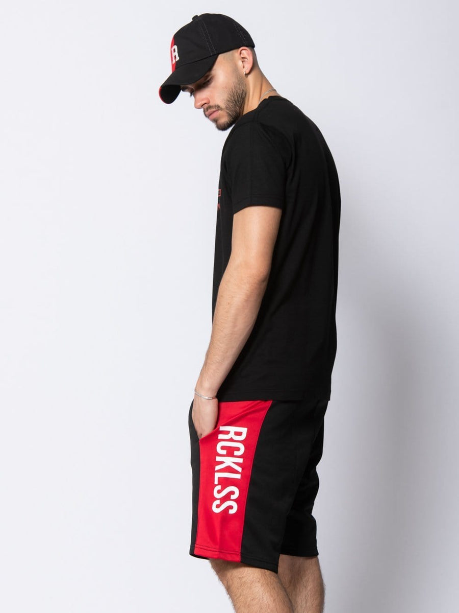 Denali Sweatshorts - Black/Red