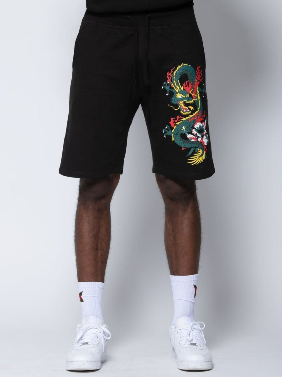 Dragon Sweatshorts - Black