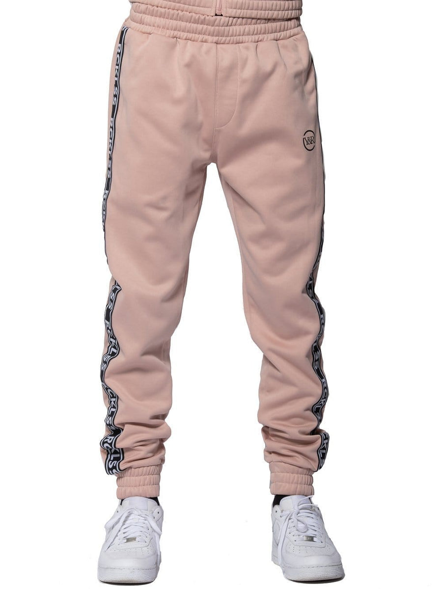 d50e4118f Young and Reckless Mens - Bottoms - Trackpants Pursuit Track Pants - Rose/ Black