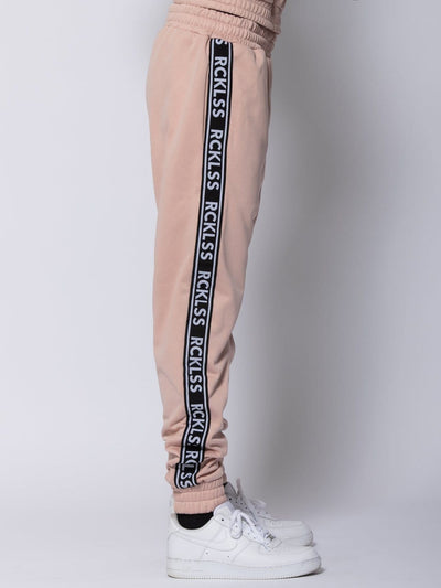 Young and Reckless Mens - Bottoms - Trackpants Pursuit Track Pants - Rose/Black