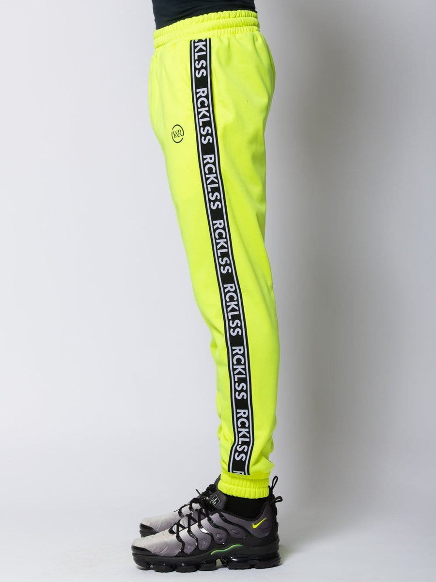 Young and Reckless Mens - Bottoms - Trackpants Pursuit Track Pants - Safety Green
