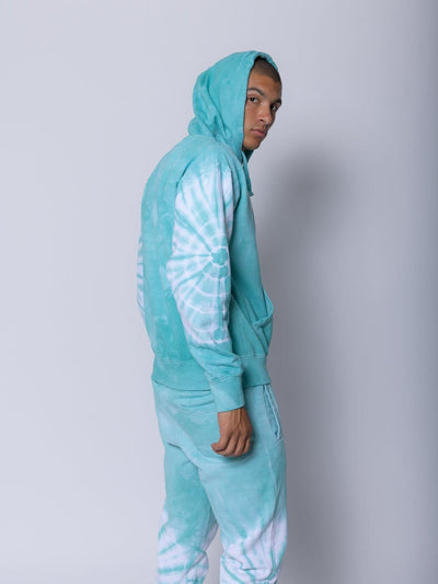 Young and Reckless Mens - Bundles Blitz Two Piece Set - Blue Tie Dye