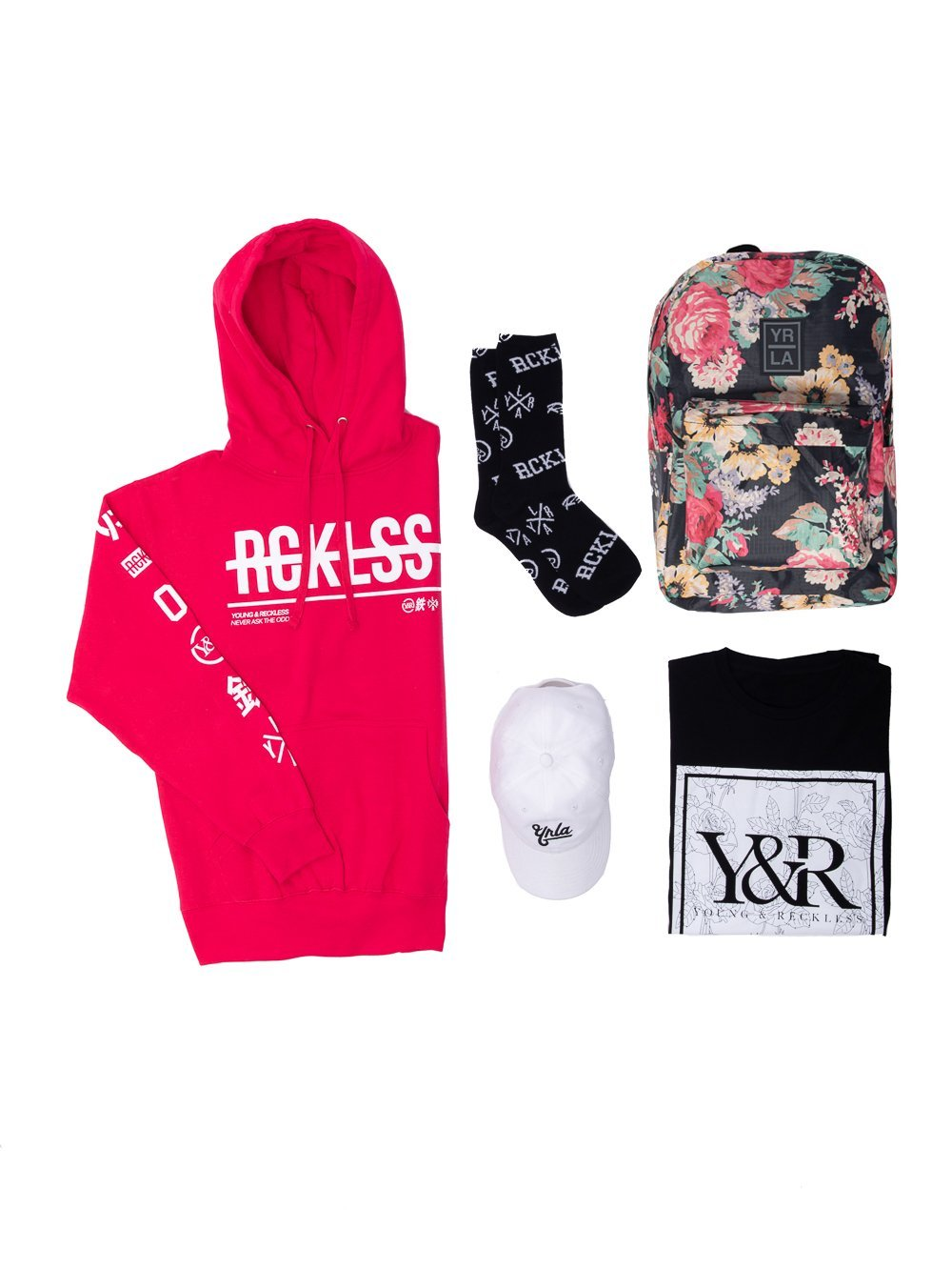 Young and Reckless Mens - Bundles Floral Bundle - Pink/White