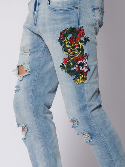 Young and Reckless Mens - Denim Dragon Denim - Light Indigo