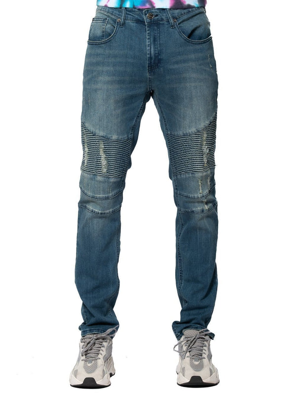 Sunset Skinny Moto Jeans Bleach Indigo Young Amp Reckless