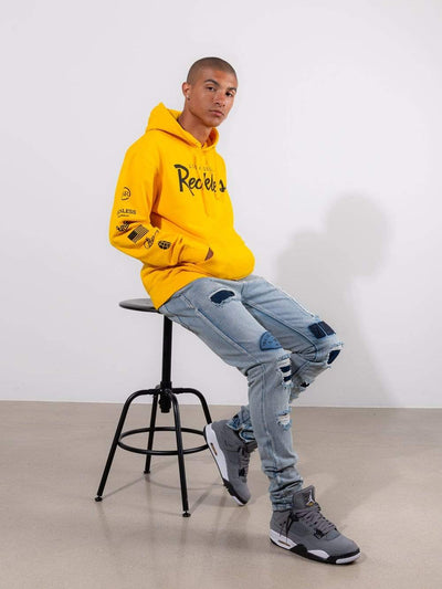 Young and Reckless Mens - Tops - Hoodies - Circuit Hoodie- Yellow