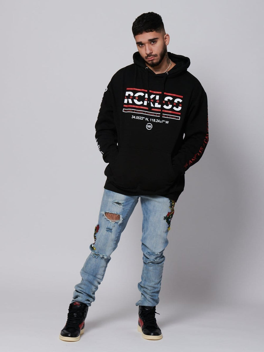 Young and Reckless Mens - Fleece - Hoodies Coordinates Hoodie - Black