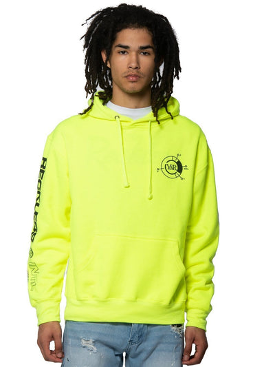 Young and Reckless Mens - Fleece - Hoodies Frequency Hoodie - Safety Green