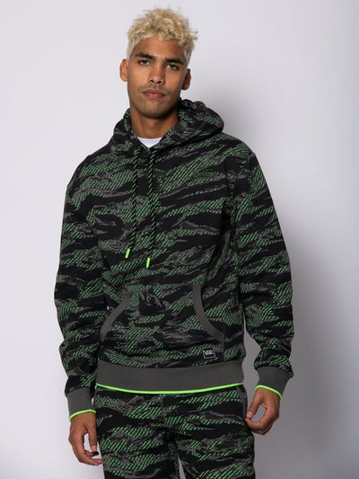 Young and Reckless Mens - Fleece - Hoodies Harrier Hoodie - Green