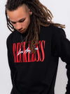 Young and Reckless Mens - Fleece - Hoodies LA Vintage Crewneck - Black/Red